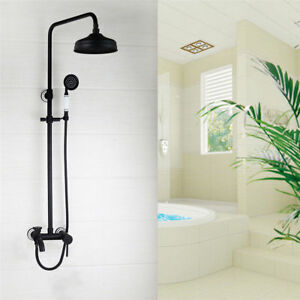 Details About Bathroom Oil Rubbed Bronze Shower Head Handheld Spray Wall Mount Mixer Faucet