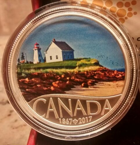 1867-2017 Panmure Island $10 Pure Silver Proof Coin Canada/'s 150th