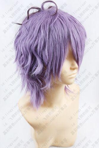 291 IB GARRY Purple mix Short Cosplay Wig free wig cap