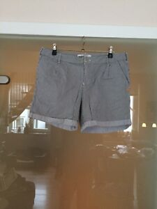 Kurze-Hose-Short-Bermuda-Scotch-amp-Soda-Gr-W-29-grau-weiss-gestreift
