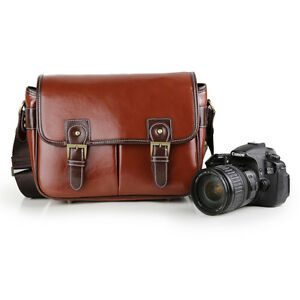 Retro-Waterproof-Vintage-PU-Leather-DSLR-Camera-Bag-Padding-Bag-For-Canon-Nikon