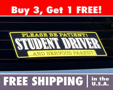 Student Driver Bumper Sticker, Student Driving, Nervous Parent Decal
