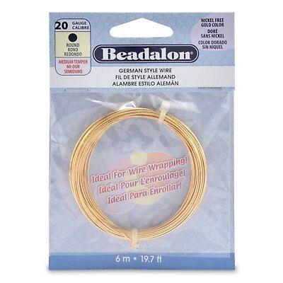 39.4ft Coil 24 Gauge Silver Plate Beadalon Round German Craft Wire