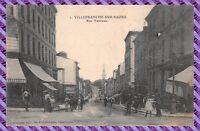 Carte postale - VILLEFRANCHE-SUR-SAONE Rue Nationale