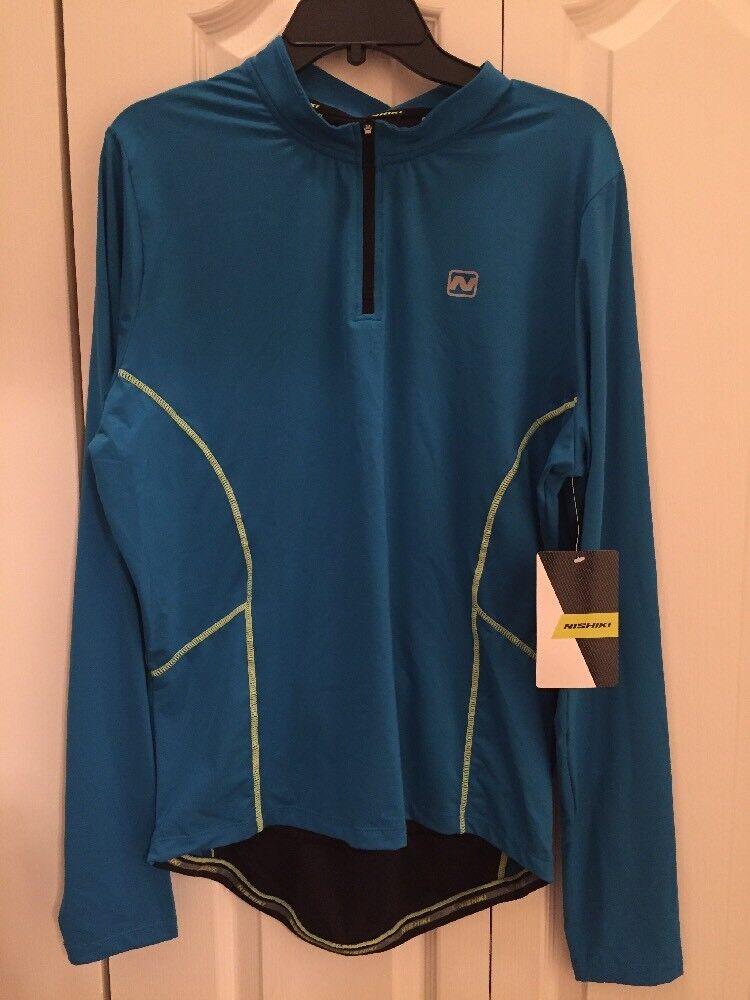 NWT Men's Nishiki Baseline bluee 1 4 Zip Jersey Size XL Extra Large