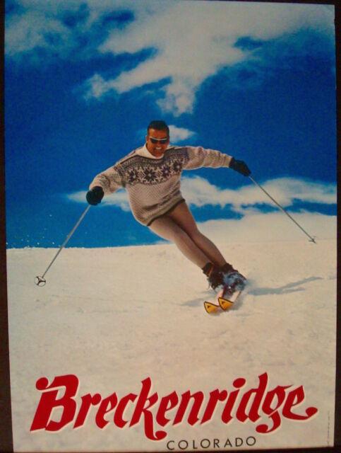 Ski Season Vintage Travel Ski Poster