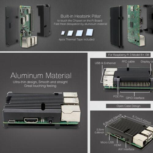 2 /& B+ High Performance Custom Aluminum Cooling Heatsink for Raspberry Pi 3