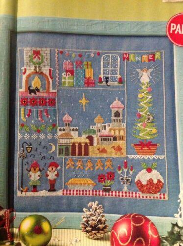 Xmas Winter Sampler Carol Singing Tree Present Christmas Cross Stitch Chart X7