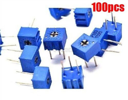 100Pcs 3362P-104 3362 P 100K Ohm High Precision Variable Resistor Potentiomet fm