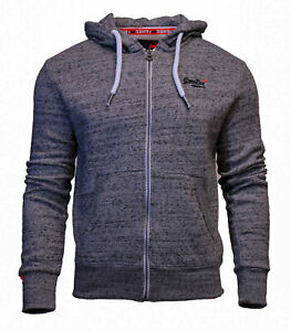 Superdry-Mens-New-Orange-Label-Long-Sleeved-Full-Zip-Hoody-Grey