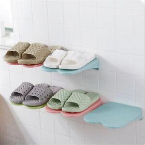 Paste-Wall-Hanging-Organizer-Hanger-Shoe-Hanger-Rack-Save-Space-Plastic-Home-Hot