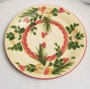 Set-of-4-Gail-Pittman-SIENA-ACORN-DINNER-PLATES-10-5-034-Christmas-Memories