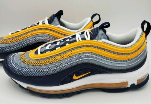 Nike Air Max 97 SE Sneakers Midnight Navy Laser Orange AQ4126 401 Men/'s SZ 13
