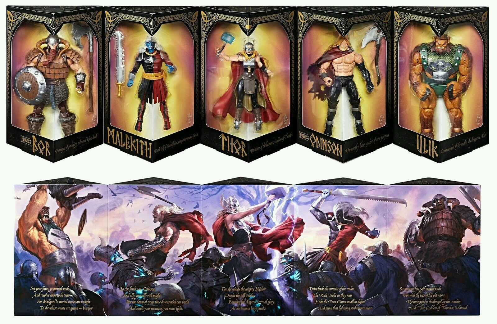 San Diego comic-con 2017 HASBRO exclusivo MARVEL LEGENDS SERIES Battle For Asgard THOR 5-Pack