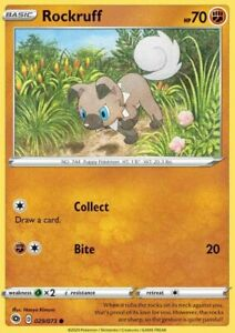 Pokemon TCG Champion's Path Rockruff 029/073 Common NM