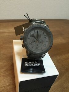 NIXON-watch-51-30-CHRONO-MATTE-BLACK-GUNMETAL-A083-1062-A0831062-free-shipping