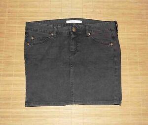 mini jupe en jean VIRGINE CASTAWAY anthracite taille 28 us ou 38 fr