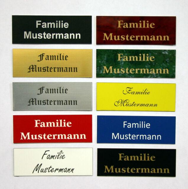 Gravurschild,Türschild, Klingelschild,Namensschild,Briefkastenschild,Pokalschild