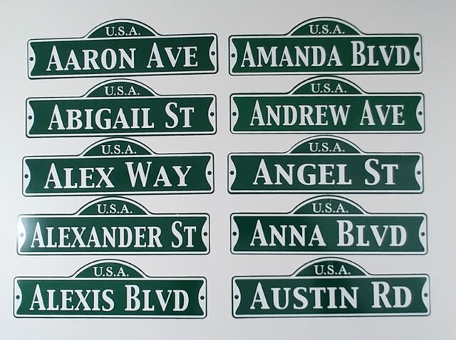 Green Street Room Sign Personalized  ~ USA LINDSEY DR ~ Stocking Stuffer ~