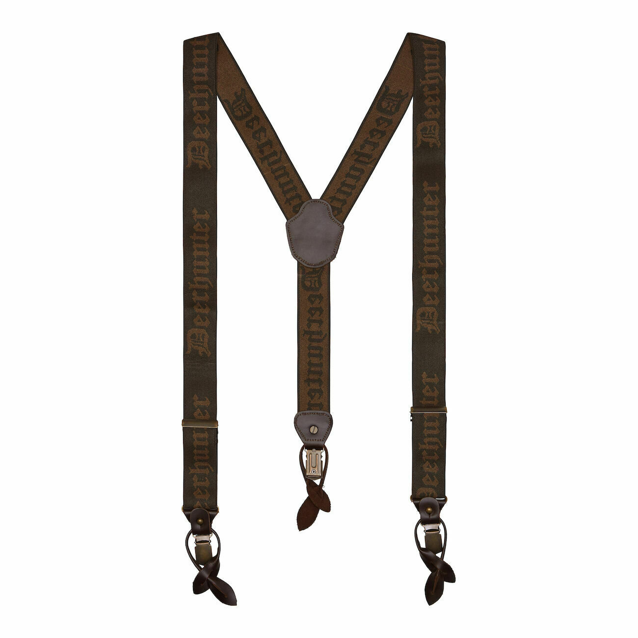 Deerhunter Men's Combi Braces with Button & Clips - Walnut