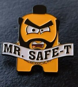 """NEU Amazon SWAG Sicherheit Mitarbeiter """"Mr. Safe-T"""" Mr. T peccy Pin selten"""
