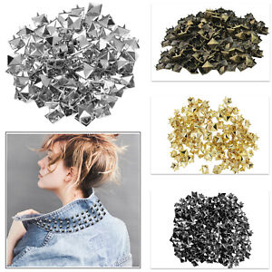 Piramide-Metal-Punk-Remache-Tuercas-Rock-Cuero-Crafts-Chaqueta-Bolsas-50-100pcs