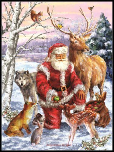 Santa/'s Menagerie Chart Counted Cross Stitch Pattern Needlework Xstitch craft