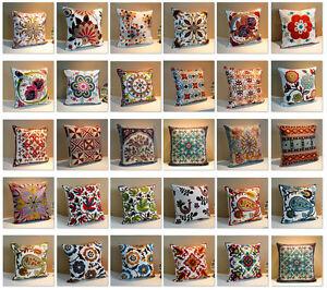 Vintage Cotton Linen Throw Pillow Case Cushion Cover Sofa Pillowcases Home Decor