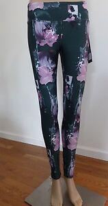 4e06219ba99d54 KYODAN Women Legging XS & SMALL Green Kale Yoga Splashed Flower XS ...