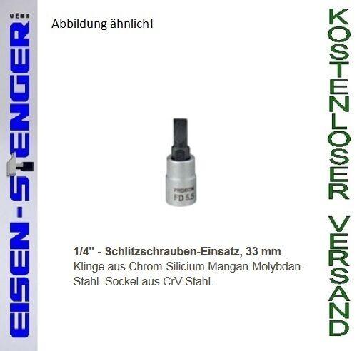 7,0 mm No 23741 PROXXON 23741 1//4/'/' Schlitzeinsatz
