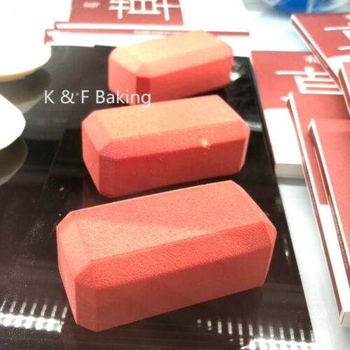 6 X Rechteckig Umschlag Silikonform DIY Kuchenform Schokoladenform Puddingform