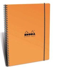Rhodia Elasti Orange Wirebound - Lined Notebook