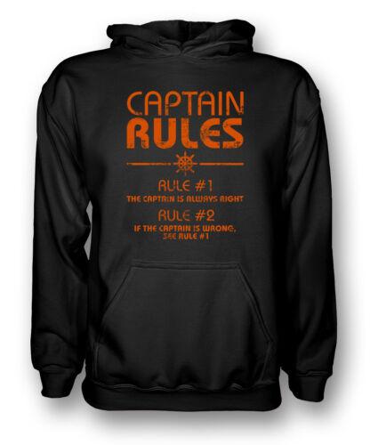 Le capitaine règles-capitaine est toujours raison-drôle de pêche-sweat à capuche