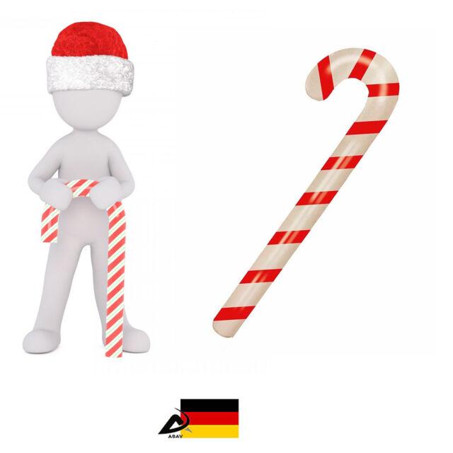 Artikel Weihnachten.Aufblasbare Zuckerstange Weihnachten Fasching Deko Artikel 90cm Gehstock