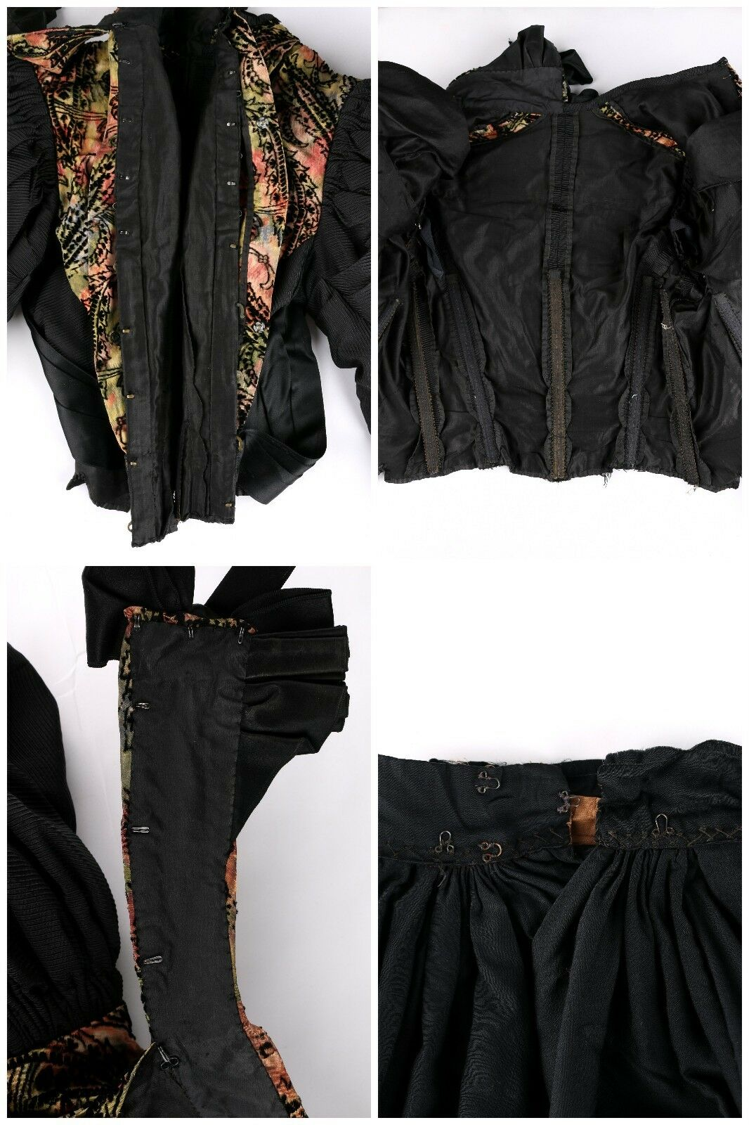 VICTORIAN Couture c.1890's Bodice Bustle Skirt Dr… - image 7