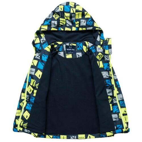Boys Kids Hoodie Windbreaker Jacket Hooded Coat Winter Casual Zipper Top Outwear