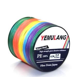 100% PE Fishing Line 100M 300M 500M 1000M Dyneema Multicolor Braided