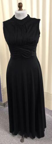 "1970s Vintage ""Halston style"" Black Evening Dress"