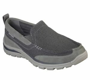 Skechers Relaxed Fit: Superior Milford chaussures hommes Memory Foam Trainers 64365