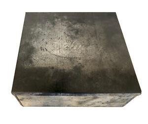 VINTAGE DELACRE METAL TIN BOX COOKIE BISCUIT CONTAINER, (EMPTY) very nice! w/Lid
