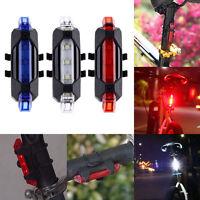 5 LED USB aufladbare Fahrrad Fahrrad Schwanz hinten Sicherheitswarnlicht -Lampe