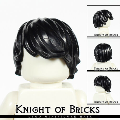 LEGO Minifigure Hair BLACK 87991 Male Boy Tousled Side Part Swept Combed