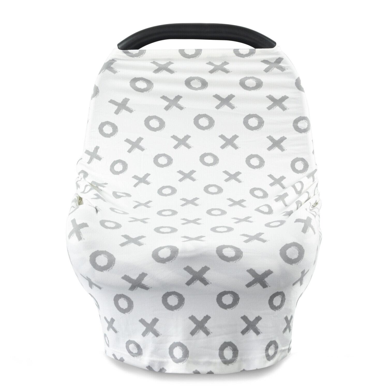 Premium MultiUse Stretchy Newborn Infant Nursing Cover Baby Car Seat Cart Canopy
