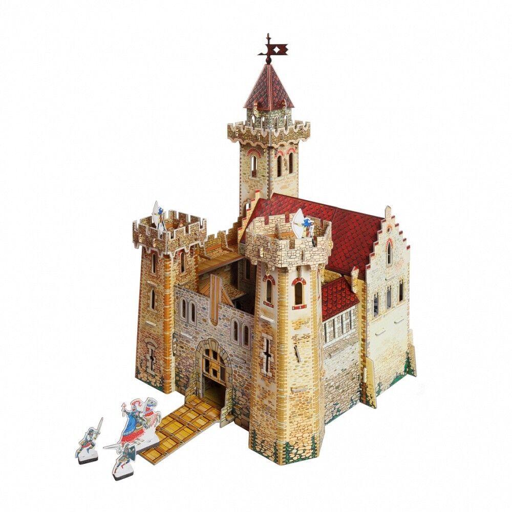 Innovative 3D-Puzzles Knight's Castle Building Landscape Cardboard Model Kit
