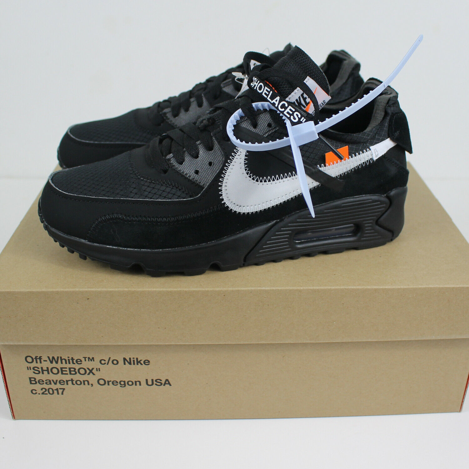 new style a8aad 3fc92 Nike Air Max 90 OFF-WHITE OFF-WHITE OFF-WHITE Black size 6.5