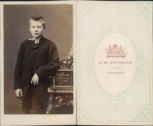 Caricamento Dellimmagine In Corso Deutmann Amsterdam Garconnet En Costume Vintage CDV Albumen