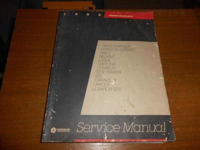 Oem Chrysler Motors Wiring Diagram Service Manual 1985