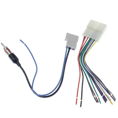 Car Radio Stereo CD Player Wire Wiring Harness Install Plug Adapter For Nissan