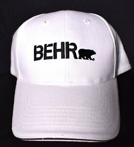 Image Is Loading Behr Paint White Adjule Baseball Style Hat Cap