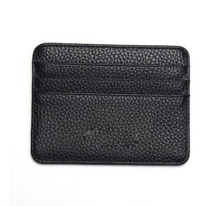 Mens PU Leather Wallet Front Pocket RFID Blocking Slim Mini Card Holder Bag Hot
